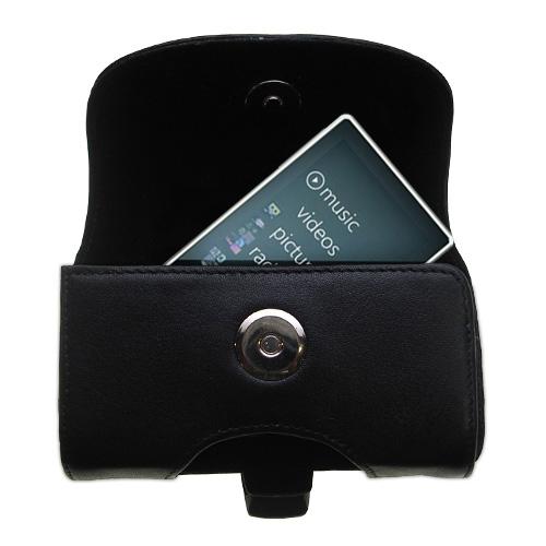Black Leather Case for Microsoft Zune HD