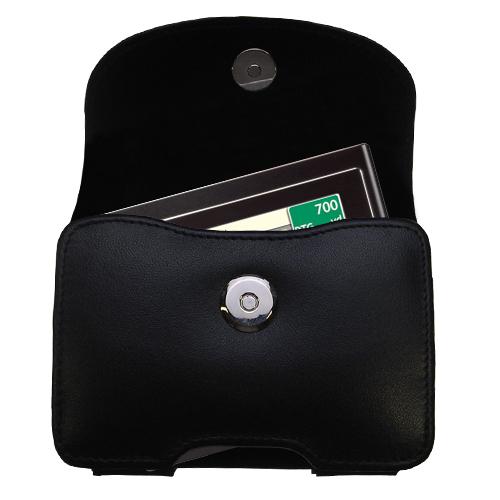 Black Leather Case for Mio Moov 200 210