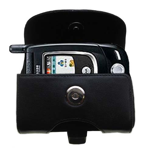 Black Leather Case for Motorola V557