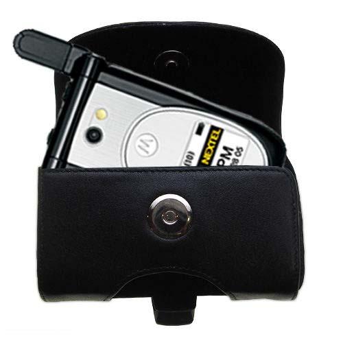 Black Leather Case for Nextel i920 i930