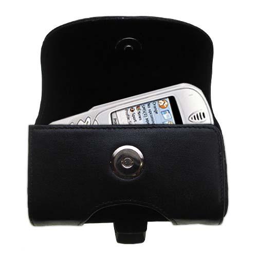 Black Leather Case for Orange SPV Smartphone