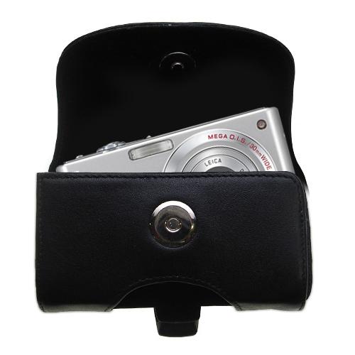 Black Leather Case for Panasonic Lumix DMC-FS5