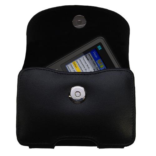 Black Leather Case for Peek GetPeek