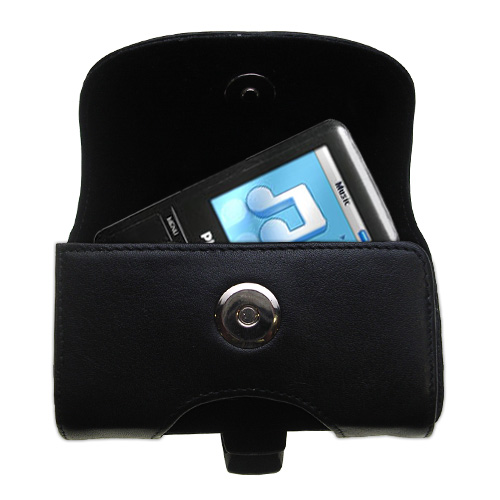 Black Leather Case for Philips GoGear SA3125/37