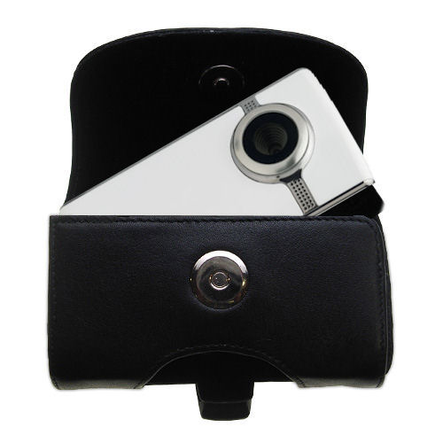 Black Leather Case for Pure Digital Flip Video UltraHD