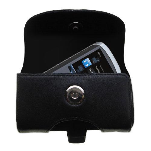 Black Leather Case for RCA M4208 OPAL Digital Media Player