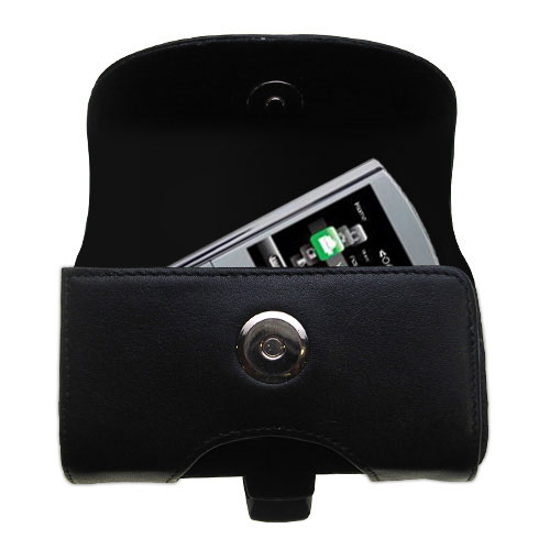 Black Leather Case for RCA M4304 Digital Music Player