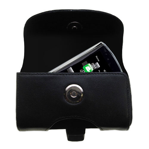 Black Leather Case for RCA M4308 Digital Music Player