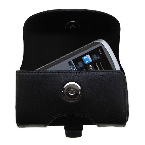 Black Leather Case for RCA MC4208 OPAL Digital Media Player