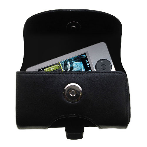 Black Leather Case for RCA X3000 LYRA Media Player