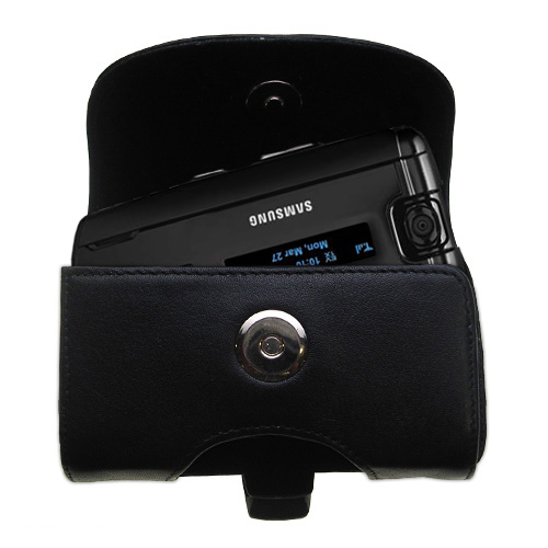 Black Leather Case for Samsung SGH-A930