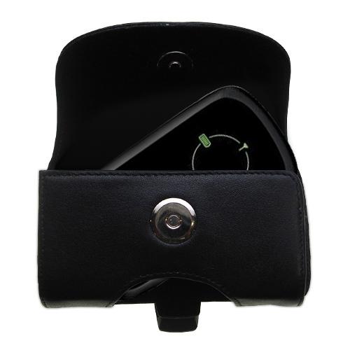 Black Leather Case for Verizon Fivespot 3G Mobile Hotspot