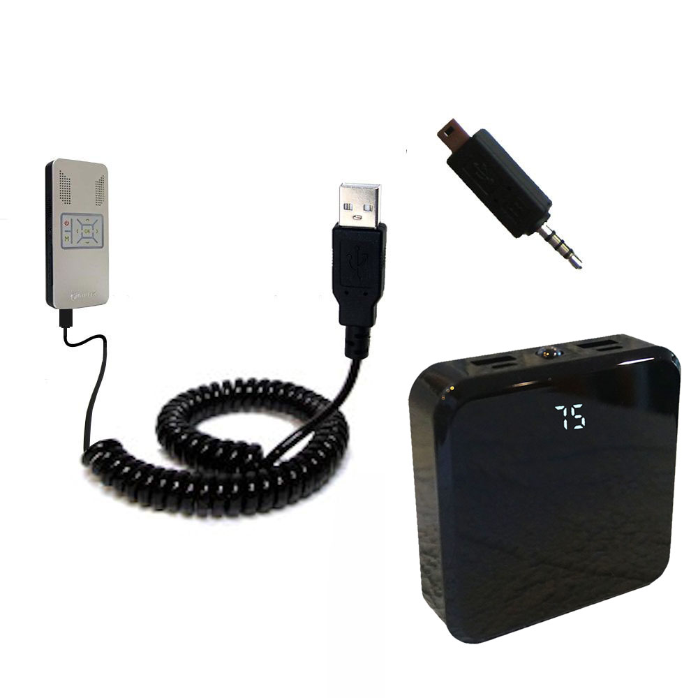 Rechargeable Pack Charger compatible with the Aiptek PocketCinema v50