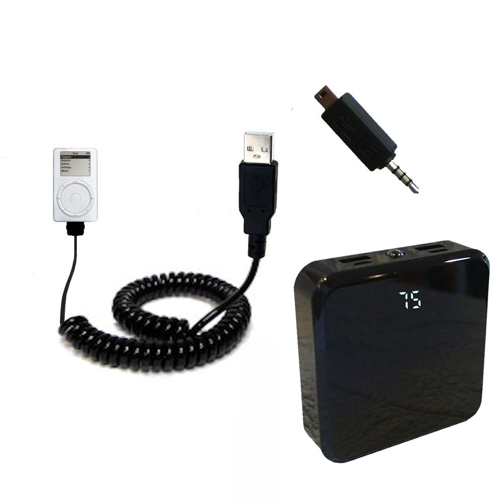 Rechargeable Pack Charger compatible with the Apple iPod 5G Video (60GB)