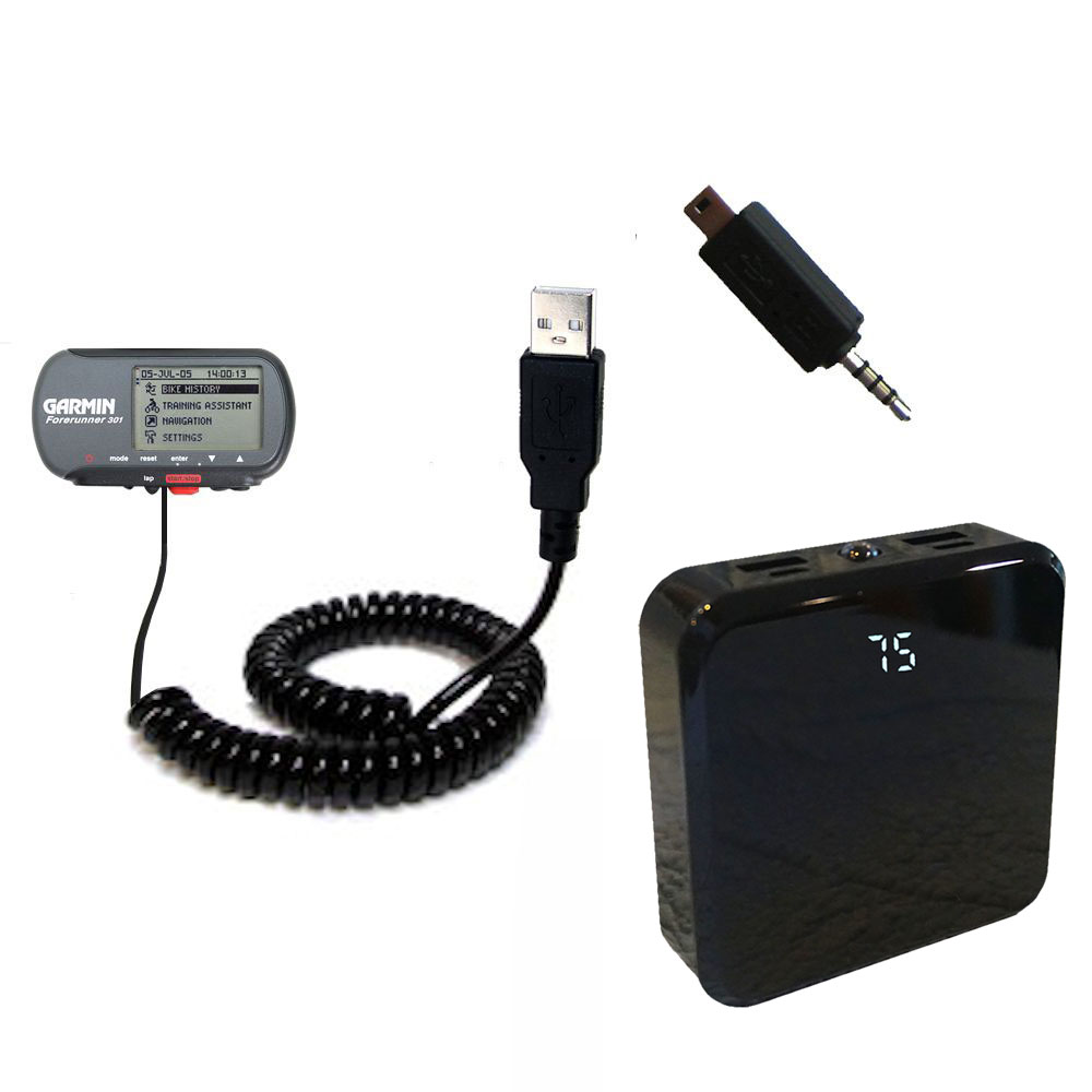 Rechargeable Pack Charger compatible with the Garmin Forerunner 301