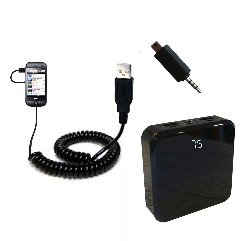 Rechargeable Pack Charger compatible with the LG InTouch Max