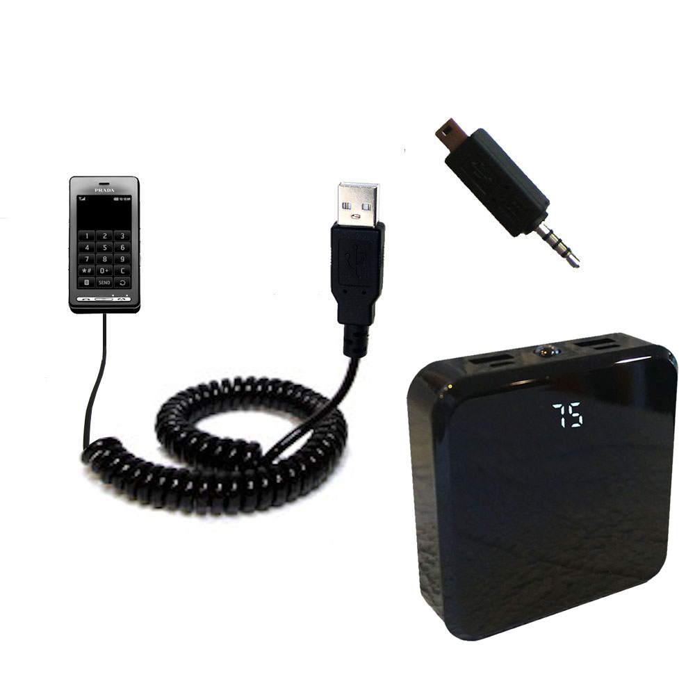 Rechargeable Pack Charger compatible with the LG KE850 Prada