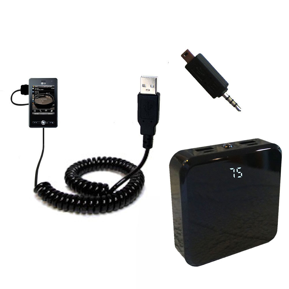 Uses TipExchange Technology Gomadic Classic Straight USB Cable for The LG MS25 with Power Hot Sync and Charge Capabilities