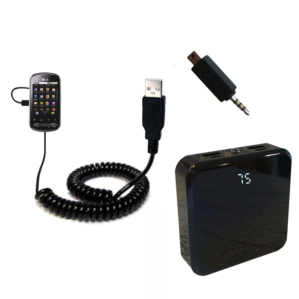Rechargeable Pack Charger compatible with the LG Optimus Me P350