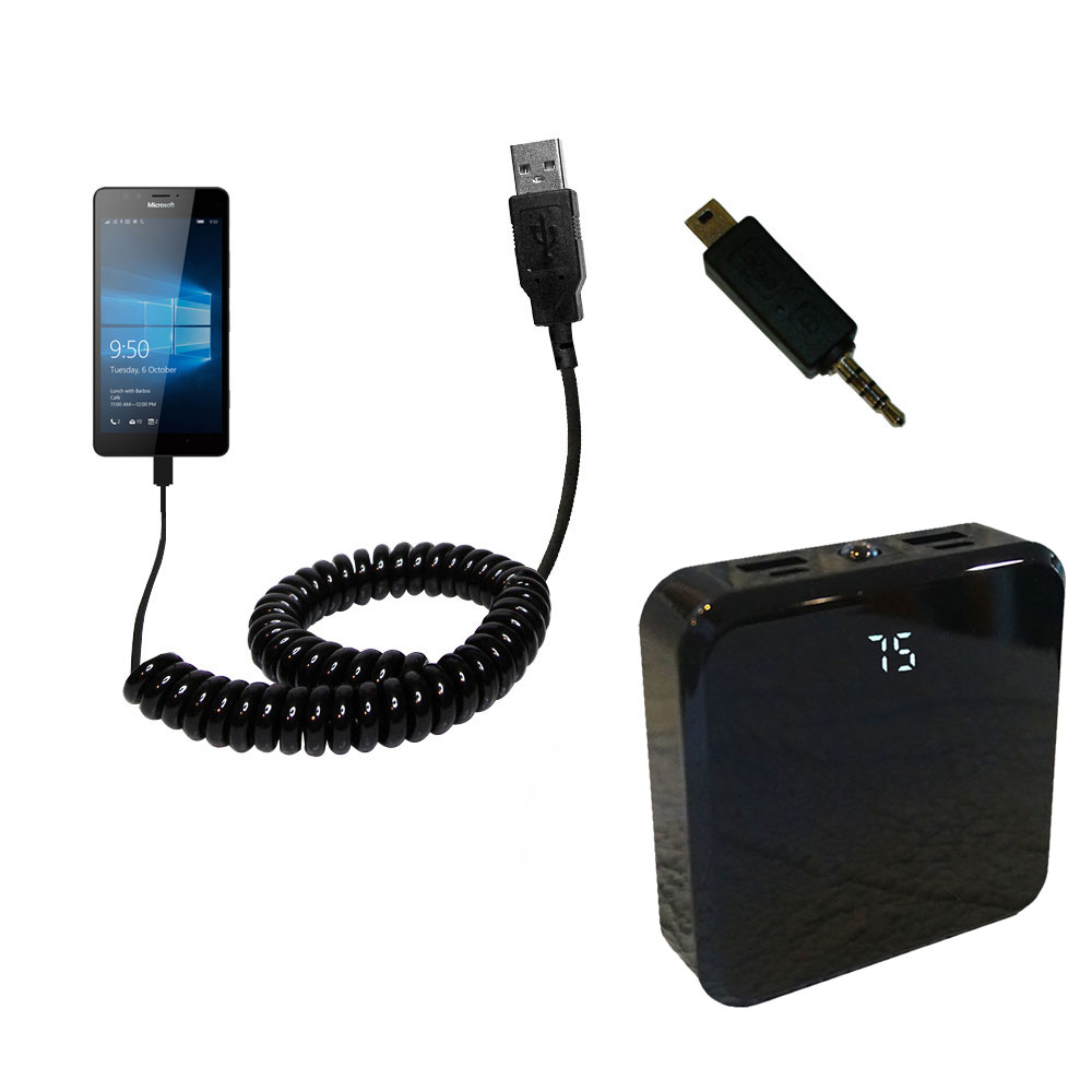 Rechargeable Pack Charger compatible with the Microsoft Lumia 950