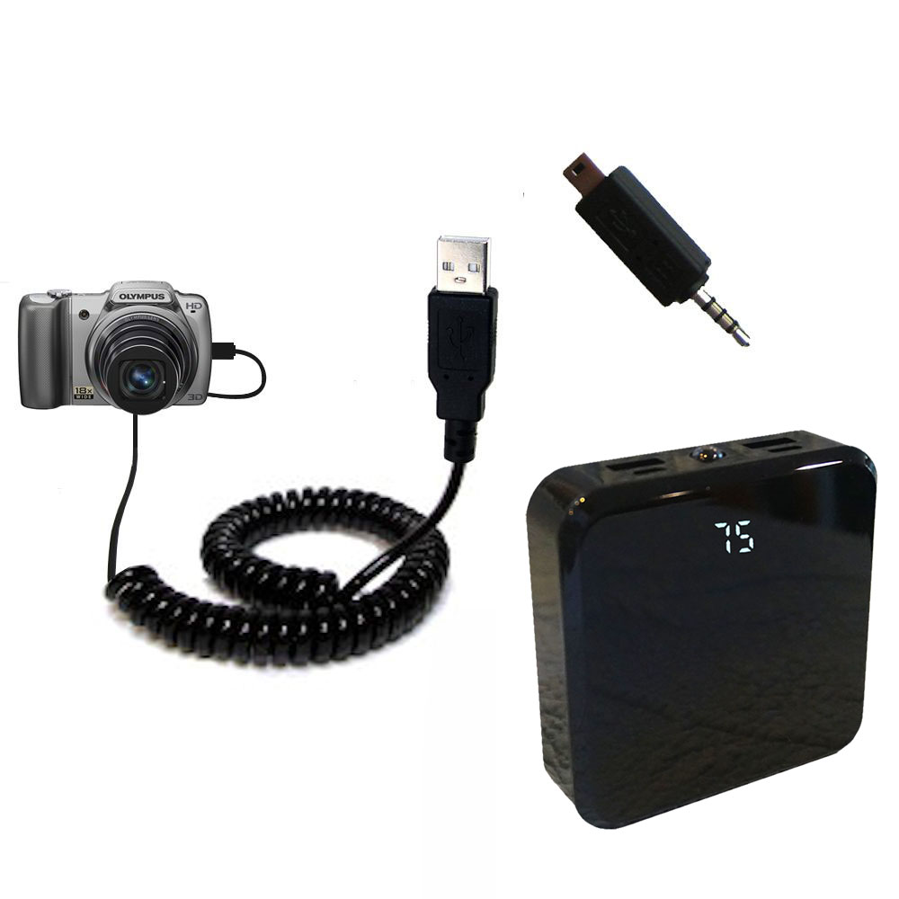 Rechargeable Pack Charger compatible with the Olympus SZ-10