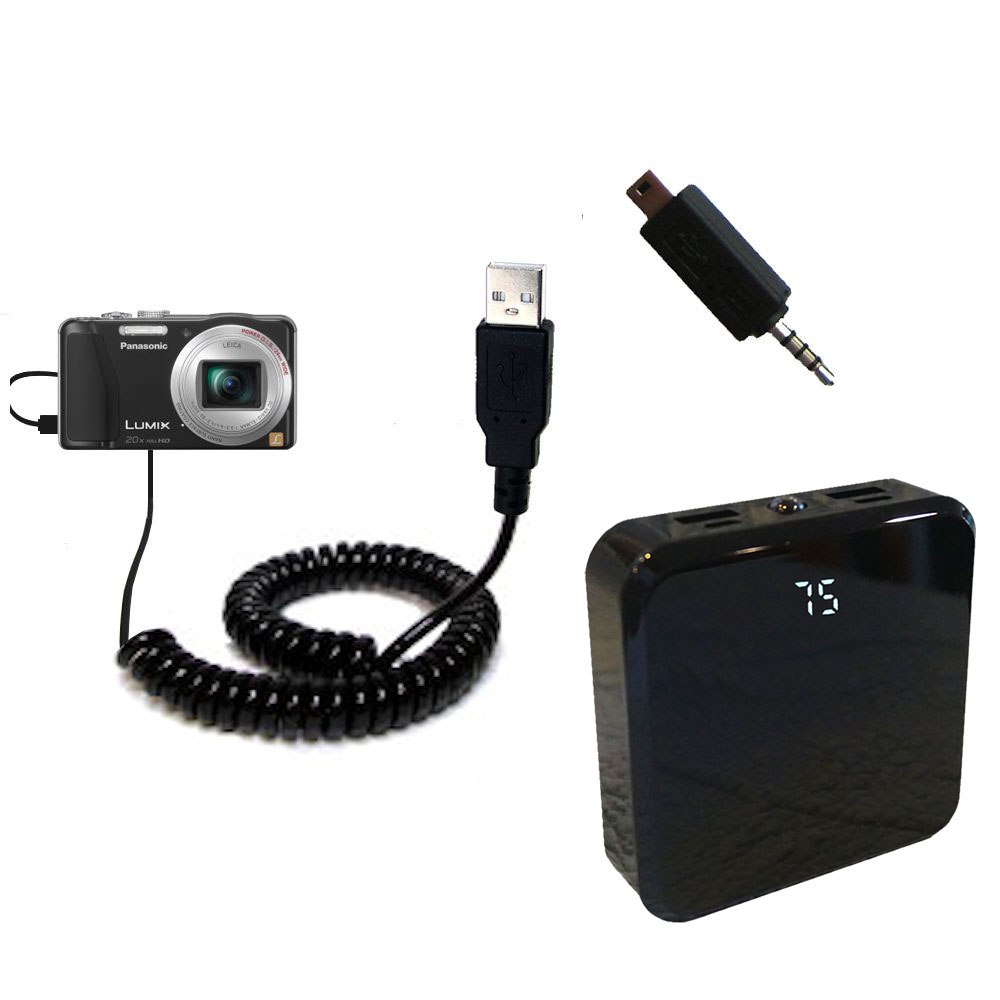 Rechargeable Pack Charger compatible with the Panasonic Lumix ZS19 / ZS20