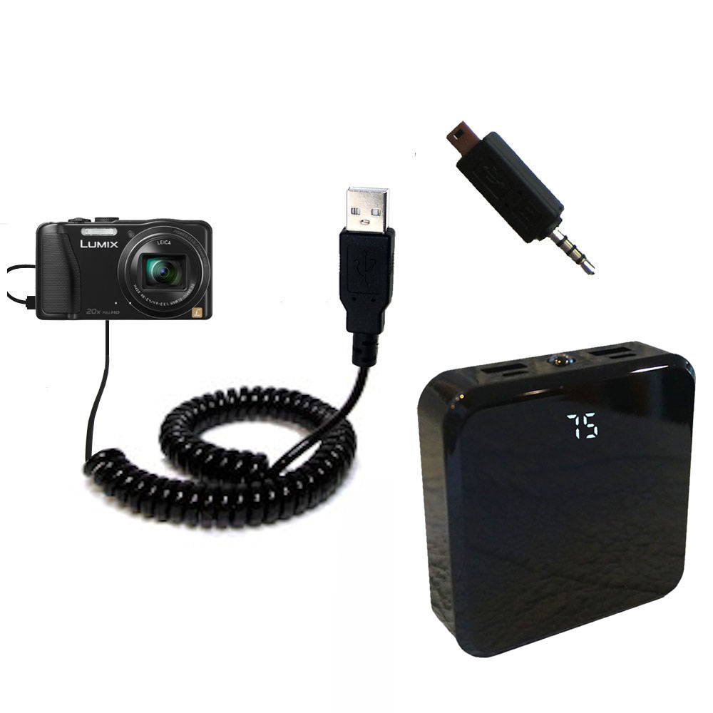 Rechargeable Pack Charger compatible with the Panasonic Lumix ZS25 / ZS30