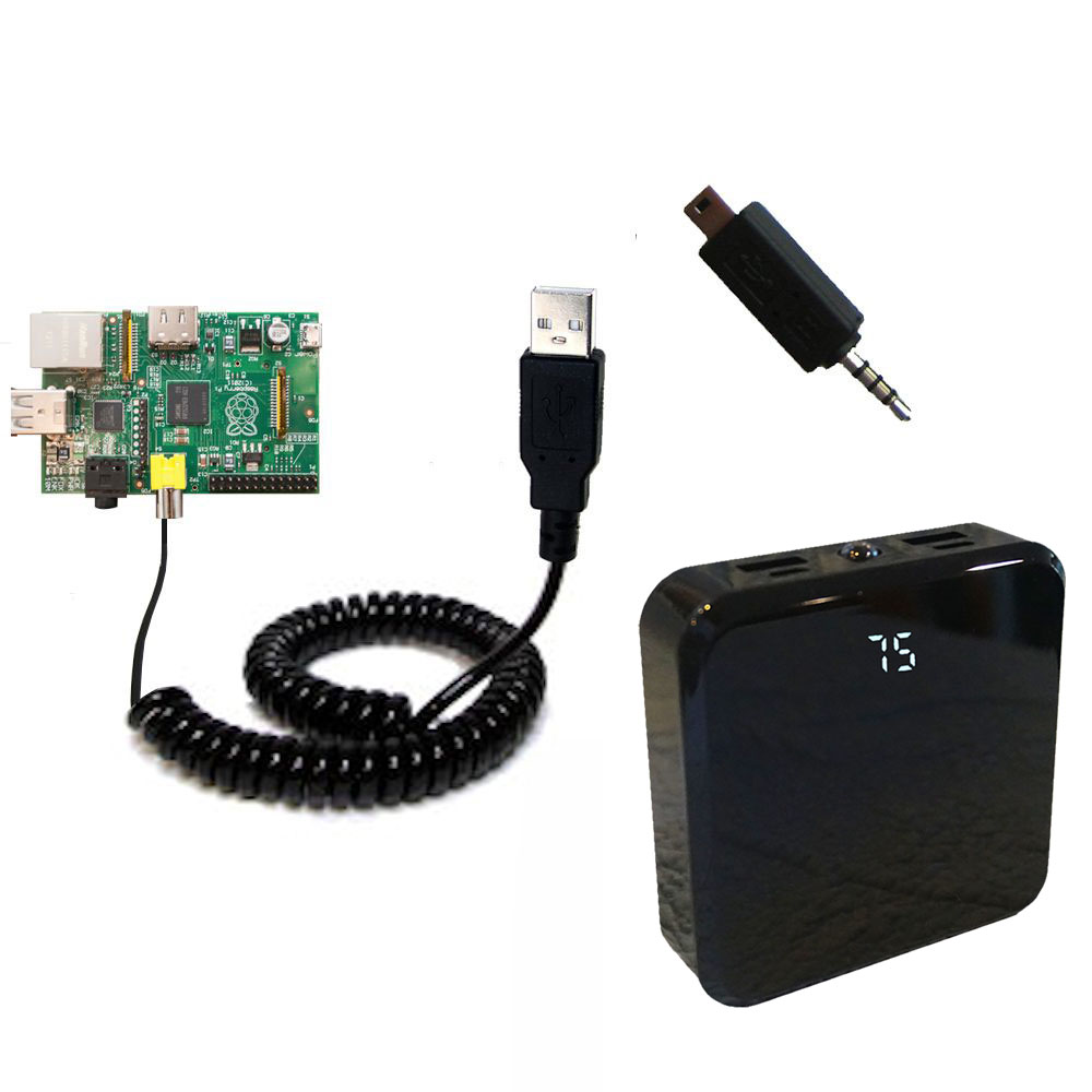 Rechargeable Pack Charger compatible with the Raspberry Pi Board