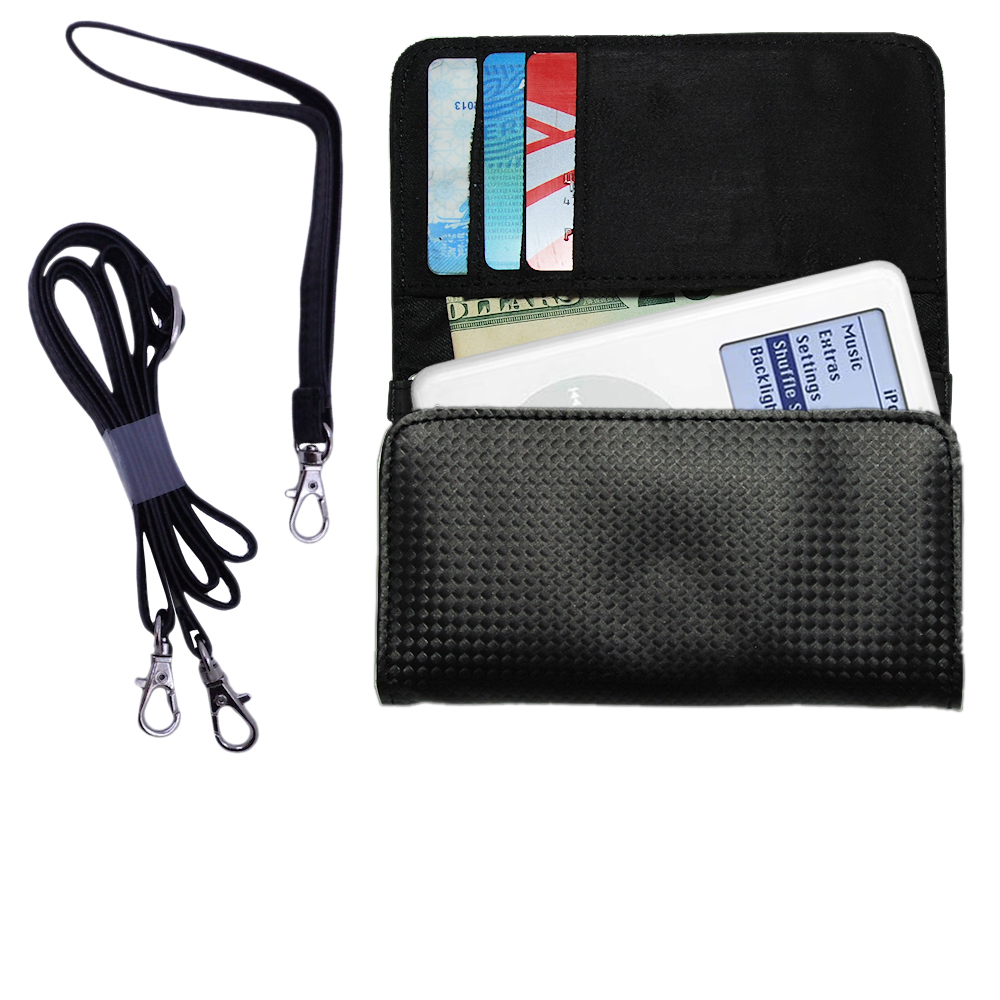 Purse Handbag Case for the Apple iPod 4G (20GB)  - Color Options Blue Pink White Black and Red