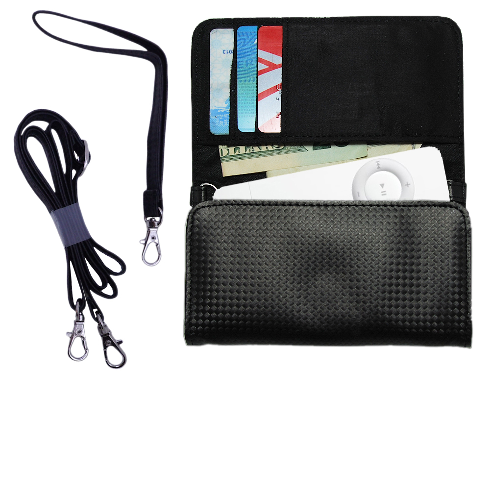Purse Handbag Case for the Apple iPOD Shuffle (1st Gen)  - Color Options Blue Pink White Black and Red