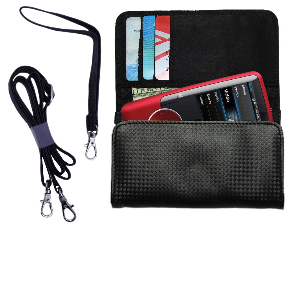 Purse Handbag Case for the Coby MP620 Video MP3 Player  - Color Options Blue Pink White Black and Red