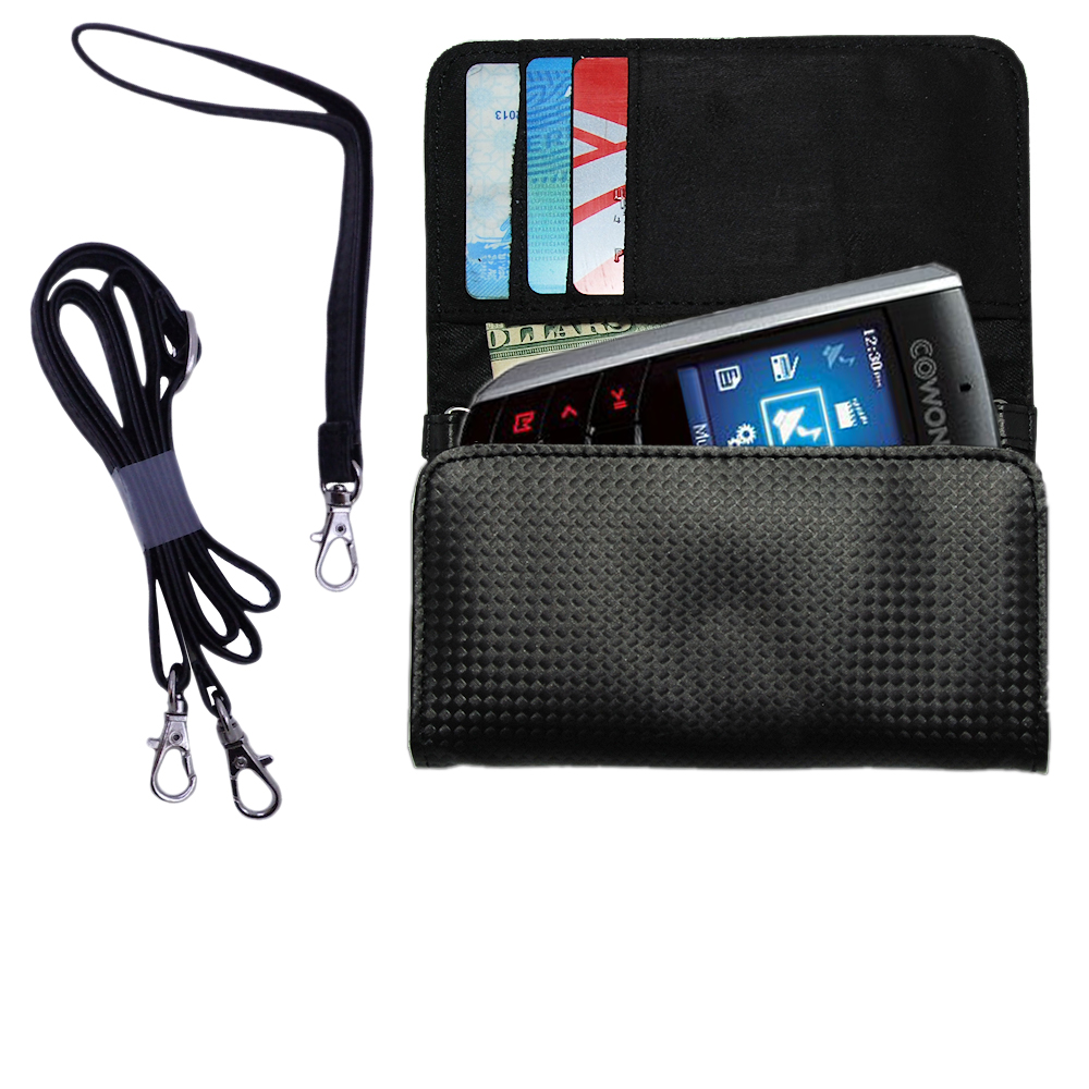 Purse Handbag Case for the Cowon iAudio F2  - Color Options Blue Pink White Black and Red