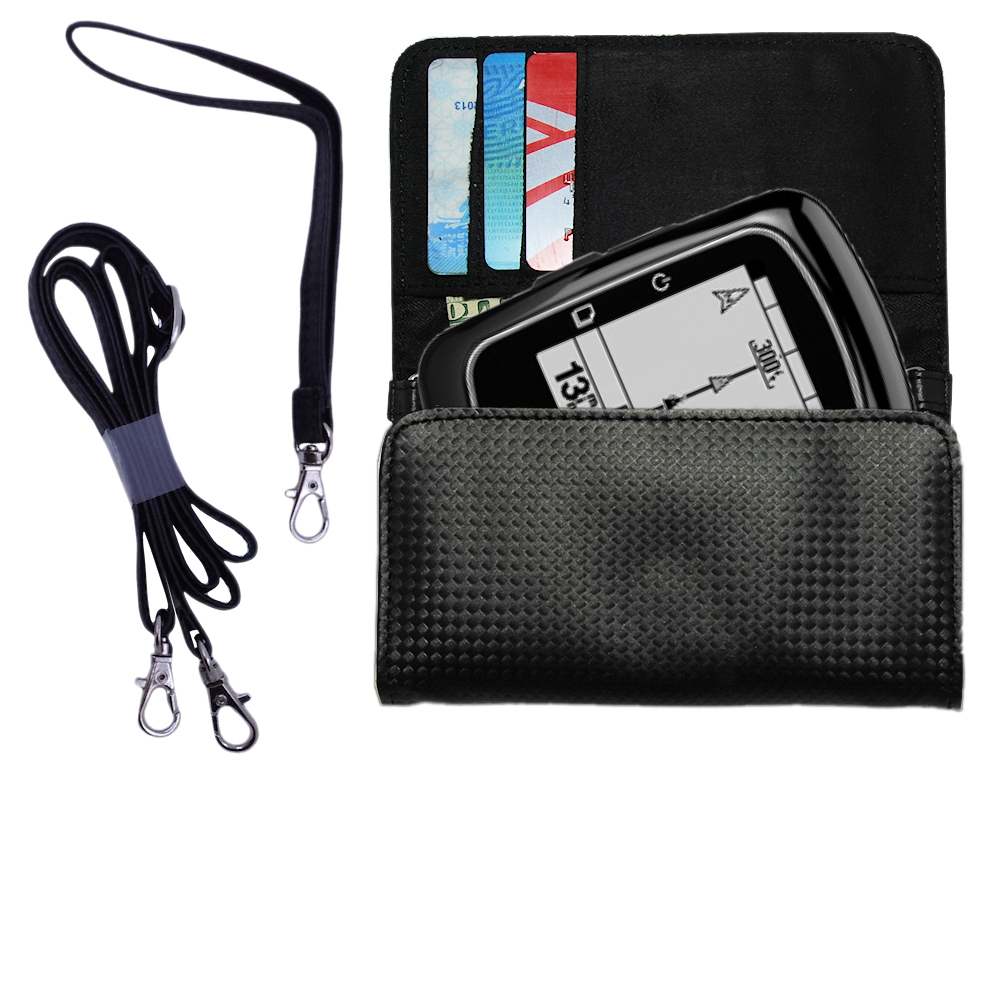 Purse Handbag Case for the Garmin EDGE 200  - Color Options Blue Pink White Black and Red