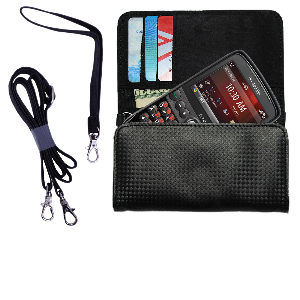 Purse Handbag Case for the HTC Dash  - Color Options Blue Pink White Black and Red