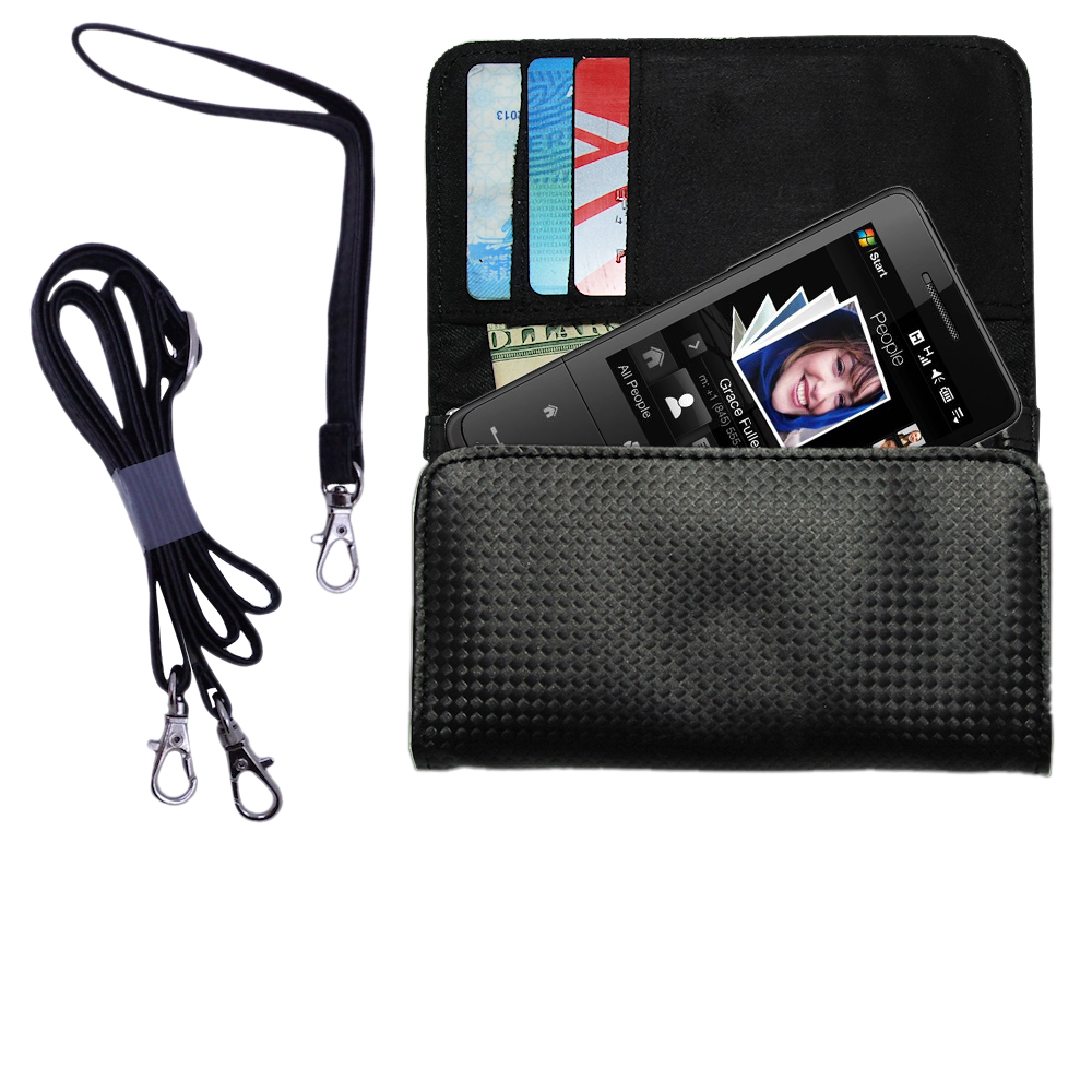 Purse Handbag Case for the HTC Raphael  - Color Options Blue Pink White Black and Red