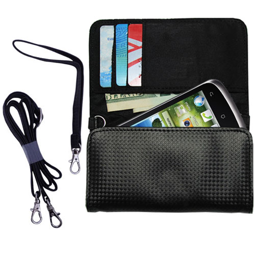 Purse Handbag Case for the Huawei U8815  - Color Options Blue Pink White Black and Red