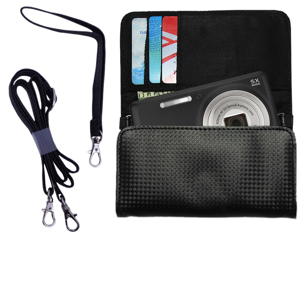Purse Handbag Case for the Kodak EasyShare M575  - Color Options Blue Pink White Black and Red