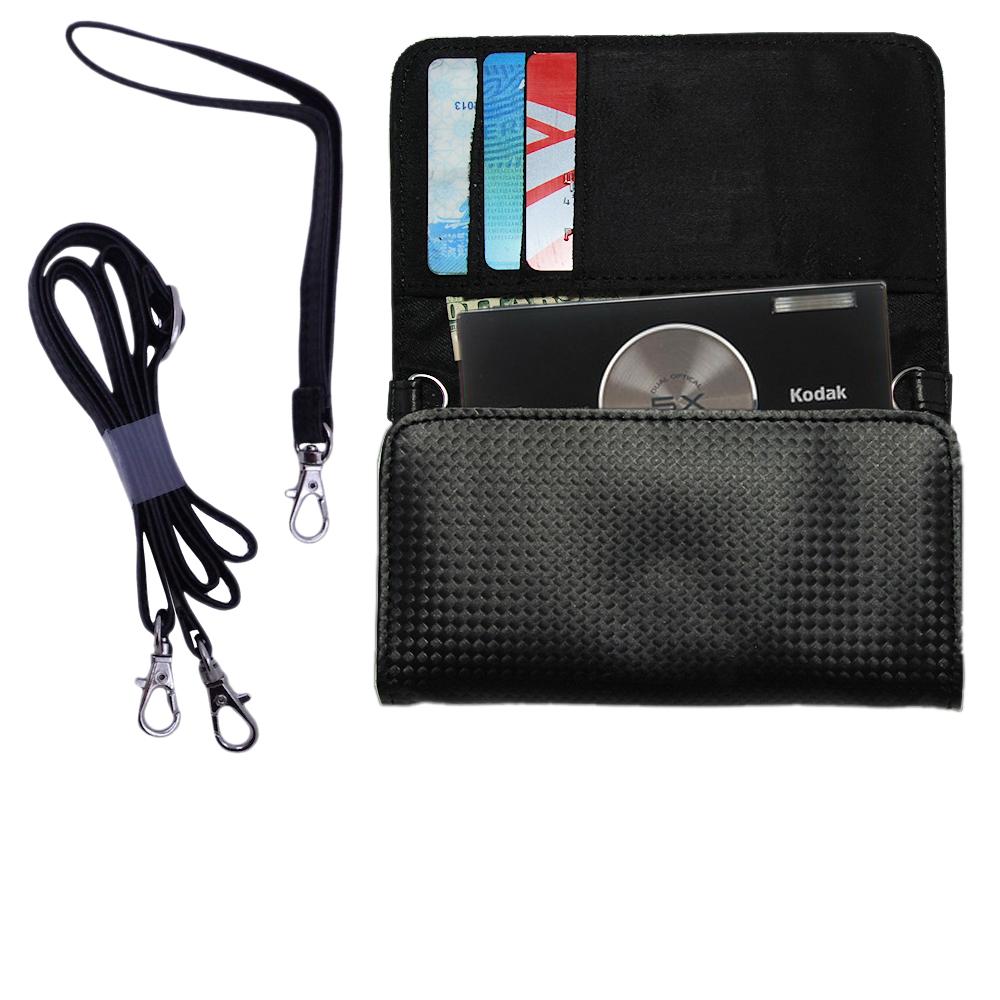 Purse Handbag Case for the Kodak V570  - Color Options Blue Pink White Black and Red