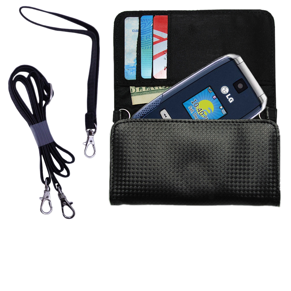 Purse Handbag Case for the LG AX500  - Color Options Blue Pink White Black and Red