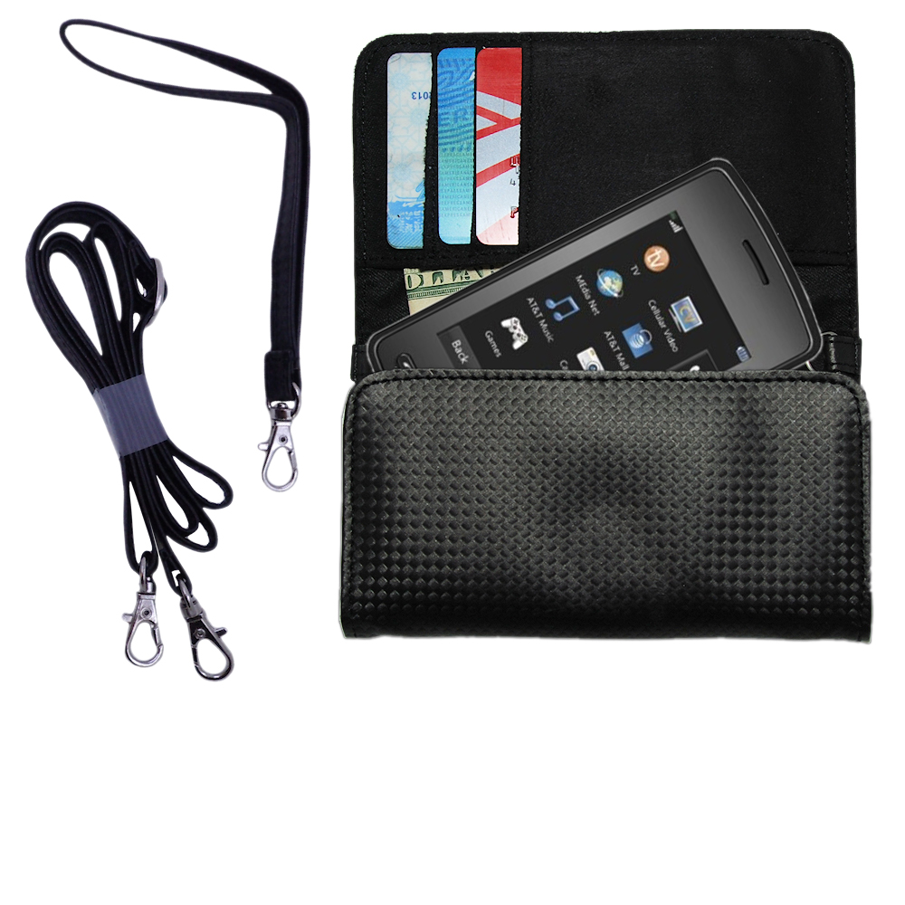 Purse Handbag Case for the LG CU920  - Color Options Blue Pink White Black and Red