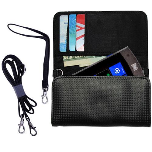 Purse Handbag Case for the LG Jil Sander  - Color Options Blue Pink White Black and Red