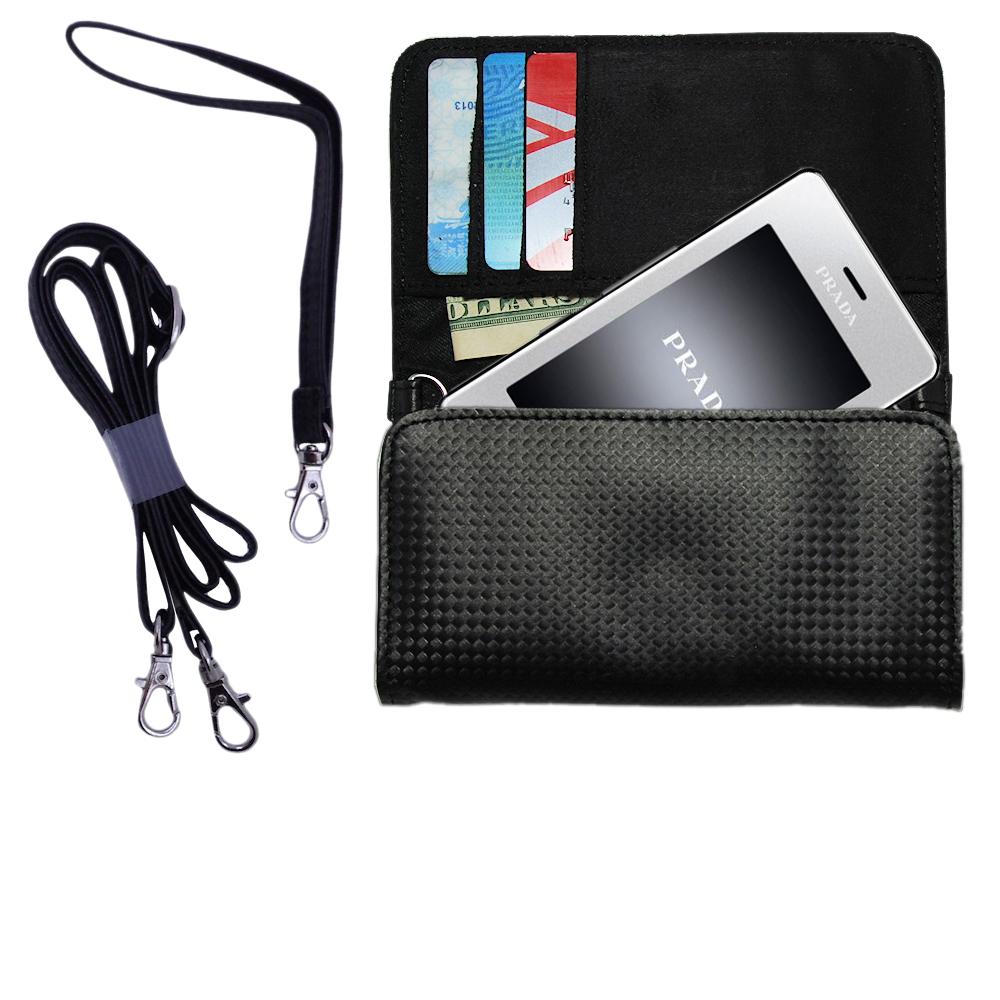 Purse Handbag Case for the LG KE850 Prada  - Color Options Blue Pink White Black and Red