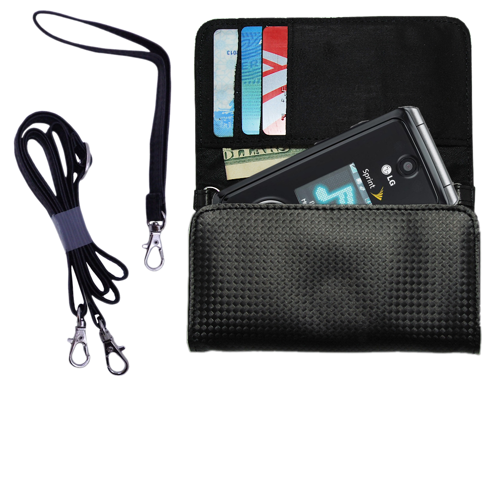 Purse Handbag Case for the LG LX570 / LX-570  - Color Options Blue Pink White Black and Red