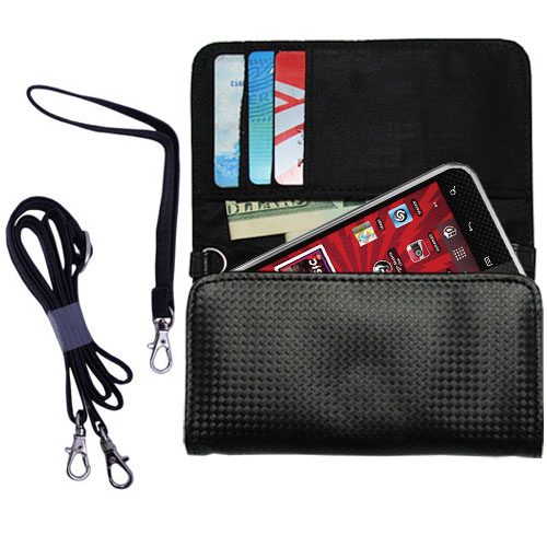 Purse Handbag Case for the LG Optimus Elite  - Color Options Blue Pink White Black and Red