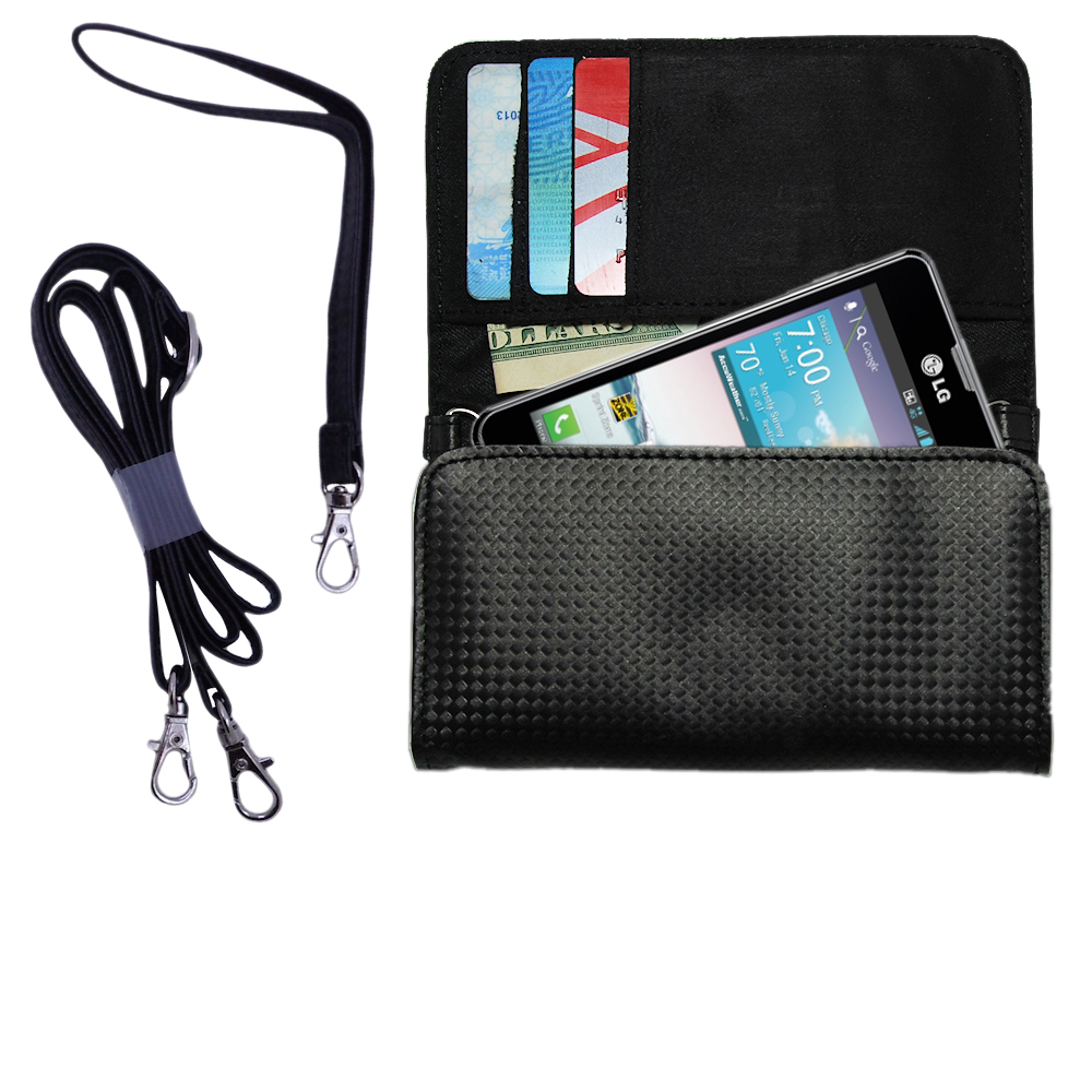 Purse Handbag Case for the LG Optimus F3  - Color Options Blue Pink White Black and Red