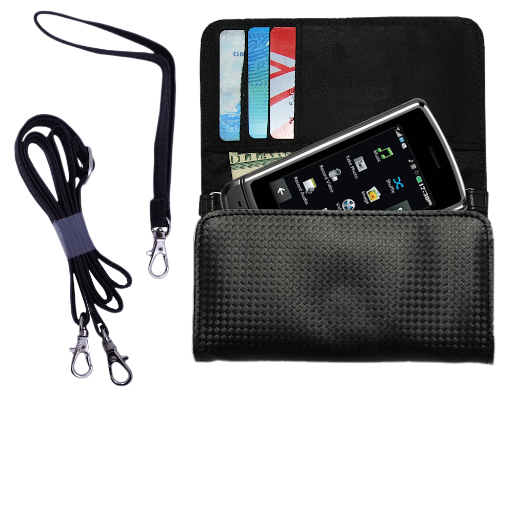 Purse Handbag Case for the LG UX830 UX840  - Color Options Blue Pink White Black and Red