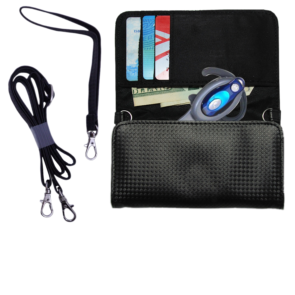 Purse Handbag Case for the Motorola HS850  - Color Options Blue Pink White Black and Red