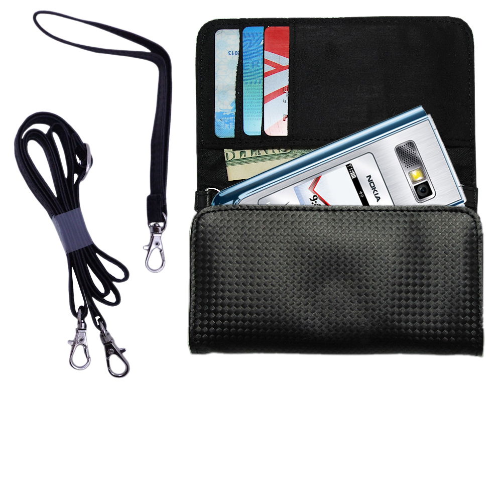 Purse Handbag Case for the Nokia 6205  - Color Options Blue Pink White Black and Red