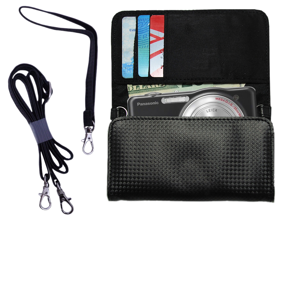 Purse Handbag Case for the Panasonic Lumix DMC-SZ1K  - Color Options Blue Pink White Black and Red