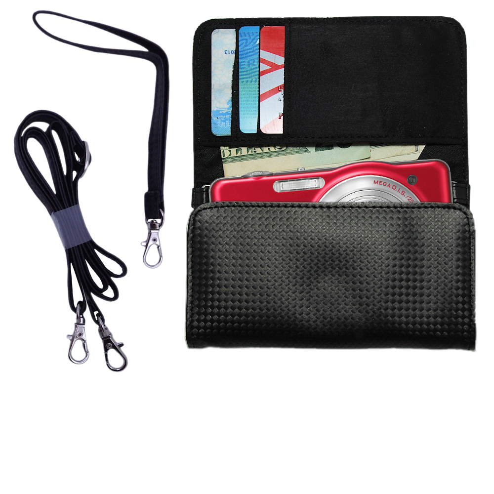 Purse Handbag Case for the Panasonic Lumix DMC-SZ1R  - Color Options Blue Pink White Black and Red
